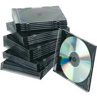 Q-Connect CD Jewel Case Slim Black Pack of 25 KF02210-0
