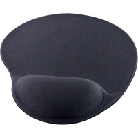 Q-Connect Gel Mouse Mat Black-0