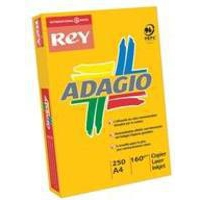 Adagio Card A4 160gsm Yellow Pk250 AY2116-0