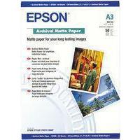 Epson A3 Archival Matt Paper 192gsm Pk50 C13S041344-0