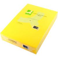 Q-Connect Coloured Copier Paper A4 80gsm Bright Yellow Pk500-0