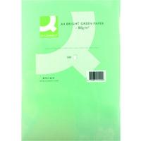 Q-Connect Coloured Copier Paper A4 80gsm Bright Green Pk500-0
