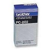 Brother PC 202RF Fax Cartridge Ink Ribbon Refill Black Pk2 PC202RF-0