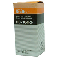 Brother PC 304RF Fax Cartridge Ink Ribbon Refill Pk4 PC304RF-0