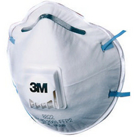 3M Respirator P2 Valved 8822 Pk10 GT500075202-0