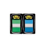 3M Post-it Index 1 inch Dual PkGreen/Blue 680-GB2-0