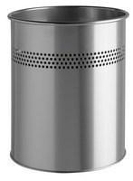 Durable 14.7L Cylinder Metal Bin Silver-0