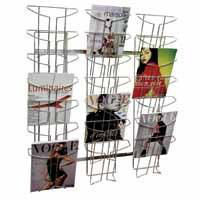 Alba Wall Mounted 7-Tier 21-Pocket Literature Holder A4 Chrome DD21M-0