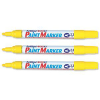 Artline 400 Paint Marker Medium Bullet Tip Yellow A4006-0