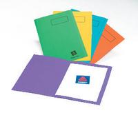 Elba Square Cut Folder Foolscap Bright Assorted Pk25-0