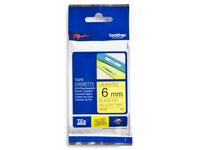 Brother P-Touch Tape TZ611 6mm Labels Black on Yellow TZ-611-0