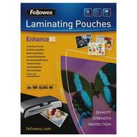 Fellowes Laminating Pouch A4 160micron Pk100 5306101-0