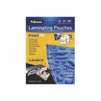 Fellowes Laminating Pouch A4 350micron Pk100 Protect 53087-0