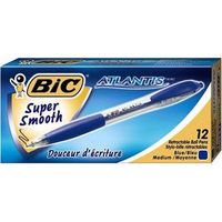 Bic Atlantis Retractable Ball Point Pen Blue 1199013670-0