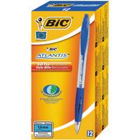 Bic Atlantis Retractable Ball Point Pen Black 1199013671-0