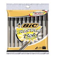 Bic Cristal Pen Large 1.6mm Black 880648-0