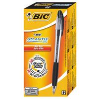 Bic Atlantis Stic Ball Point Pen 1.2mm Black 837386-0