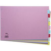Elba Card Divider A3 10-Part Assorted 100080772-0