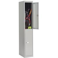 Bisley 2 Door Locker 305x457x1802mm Goose Grey-0