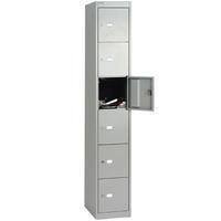 Bisley 6 Door Locker 305x457x1802mm Goose Grey-0