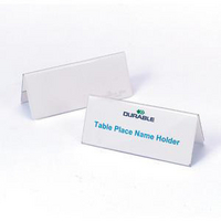 Durable Table Name Holder 52x100mm Pk25 8051-0