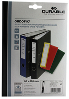 Durable Ordofix Spine Label Black Pk10 8090/01-0