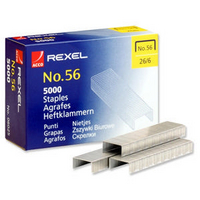 Rexel Staples No56 6mm Pk5000 06025 RX06025