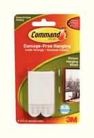 3M Command Medium Picture Hanging Strips Pk4 17201-0