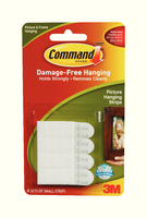3M Command Small Picture Hanging Strips Pk4 17202-0