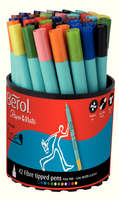 Berol Colourfine Pen Assorted Water Based Ink Tub of 42 CFT S0376490-0