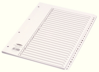 Concord Classic Index A-Z A4 White Board With Clear Mylar Tabs 04501/CS45-0