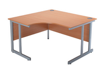 Jemini 1200mm Radial Left Hand Cantilever Desk Beech-0