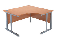 Jemini 1200mm Radial Right Hand Cantilever Desk Beech-0