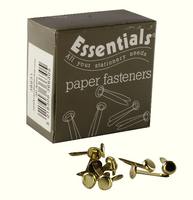 Paper Fastener Pointed 20mm Pk 200-0