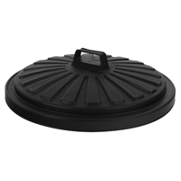 Addis Dustbin Lid Round 90 Litre Black 0766MOB-0