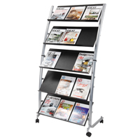 Alba 5 Shelf Single Sided Mobile Literature Display Stand 3 x A4 DD5GM-0