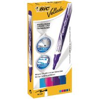 Bic Velleda Fashion Colour Drywipe Markers Wallet of 4 927157-0