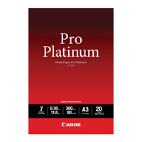 Canon Pro Platinum Photo Paper A3 PT-101 20 Sheets 2768B017-0
