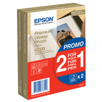 Epson Premium Glossy Photo Paper 100x150mm 2-for-1 Pk 40 + 40 Free C13S042167-0