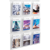 Helit Placativ Wall Display 9 x A4 Pockets Clear HS812102-0