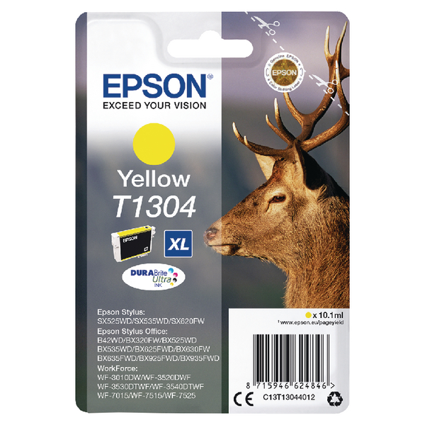 Epson T1304 XHY Yellow Ink Cartridge C13T13044012-0