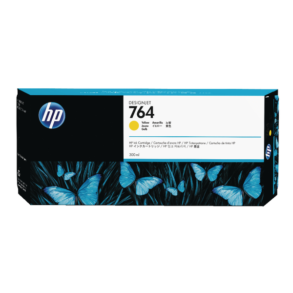 HP 764 Yellow Designjet Ink Cartridge C1Q15A-0