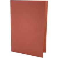 Concord 270gsm Square Cut Folder Medium-weight Foolscap Red 43208 Pk100
