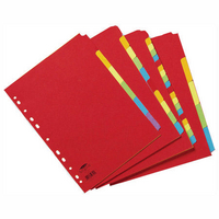 Concord Bright A4 Dividers 12-Part Assorted 50999
