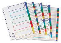 Concord Plastic Index A4 A-Z Multi-Colour 65799