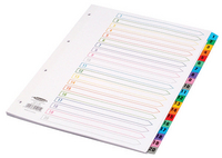 Concord Index 1-20 A4 White With Multi-Colour Tabs 01901/CS19