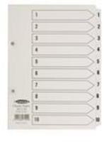 Concord Classic Index 1-10 A5 White Board with Clear Mylar Tabs 07101 CS71