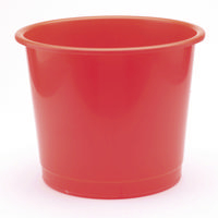 Q-Connect Plastic Waste Paper Bins 15 Litre Red KF01128