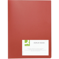 Q-Connect Presentation A4 Display Book 40 Pocket Red KF01258