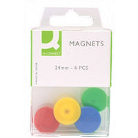 Q-Connect Magnet 24mm 6 Pack Assorted Pk10 KF02040Q